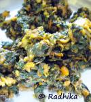 Sirukeerai Poriyal / Amaranthus Stir Fry