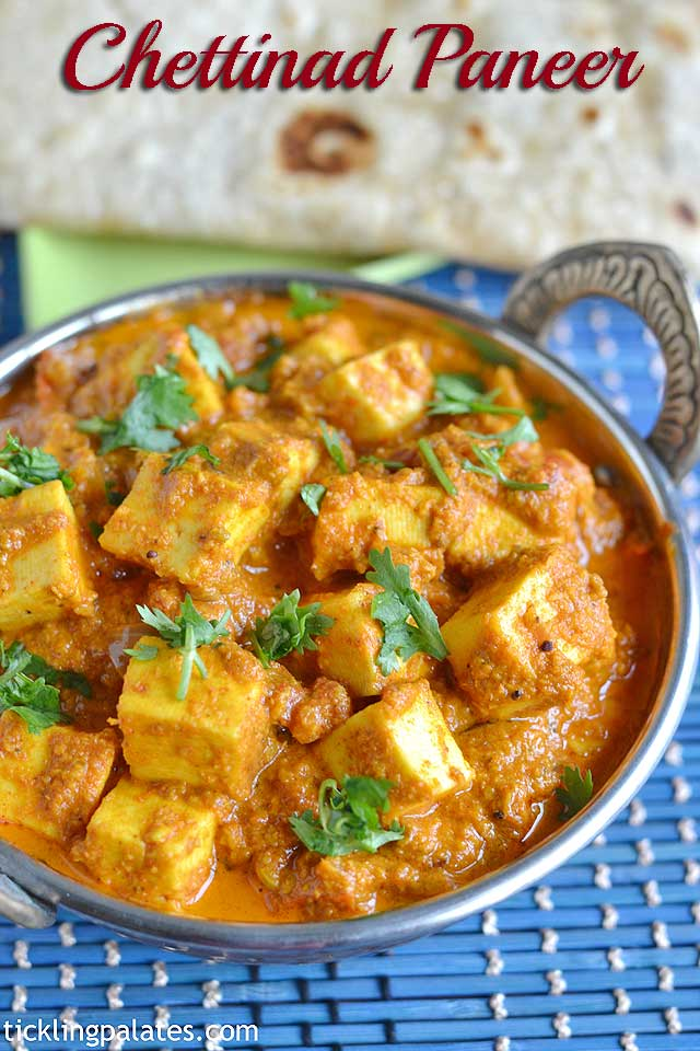 chettinad paneer pirattal recipe