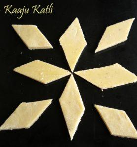 Kaaju Katli / Cashewnut Burfi | Diwali Special & Giveaway Winner