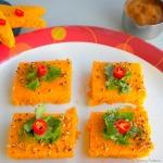 Dhokla Recipe / Tomato Dhokla | For Blog Hop Wednesdays