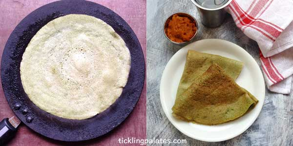 pesarattu dosa recipe step3