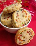 Eggless Slice N Bake Cookies / Eggless Tutti Frutti Cookies (Vegan)