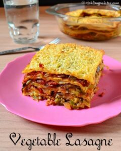 Vegetable Lasagna Recipe With Homemade Lasagna Sheets (Without Pasta Machine)