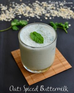 Oats Spiced Buttermilk Recipe – Oats Neer More – Indian Oats Recipes