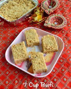 7 Cup Burfi Recipe – 7 Cup Cake | Easy Diwali Sweet Recipes