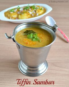 Tiffin Sambar Recipe – Side Dish for Idli/Dosa