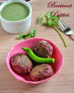 Beetroot Tikki Recipe – Healthy Easy Appetizer Recipes