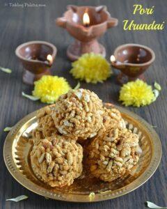 Pori Urundai Recipe – Nel Pori Urundai Recipe | Karthigai Deepam Recipes