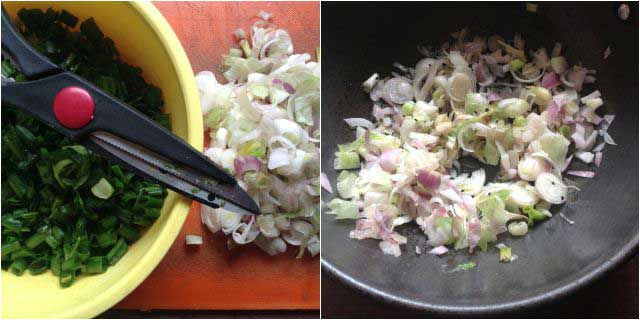 spring onion curry recipe step-1