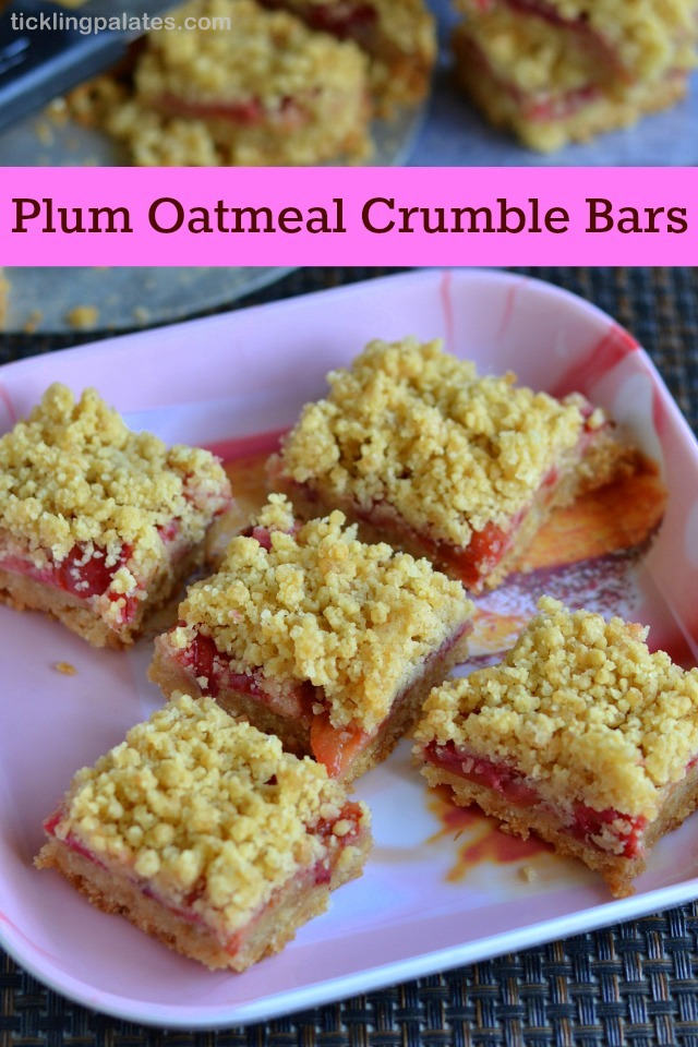 Plums Oatmeal Crumble Bars Recipe