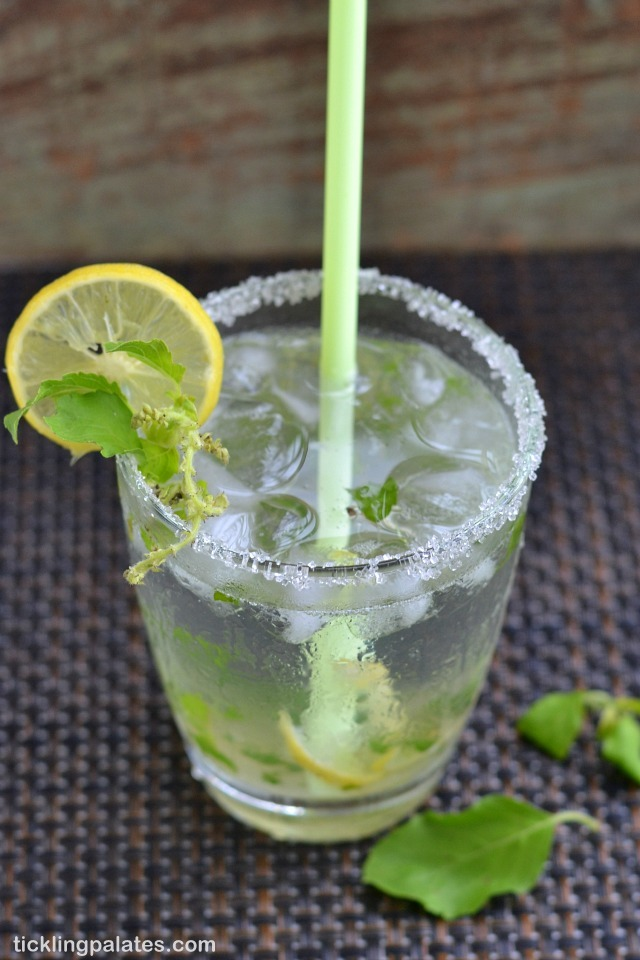 Lemon Basil Virgin Mojito