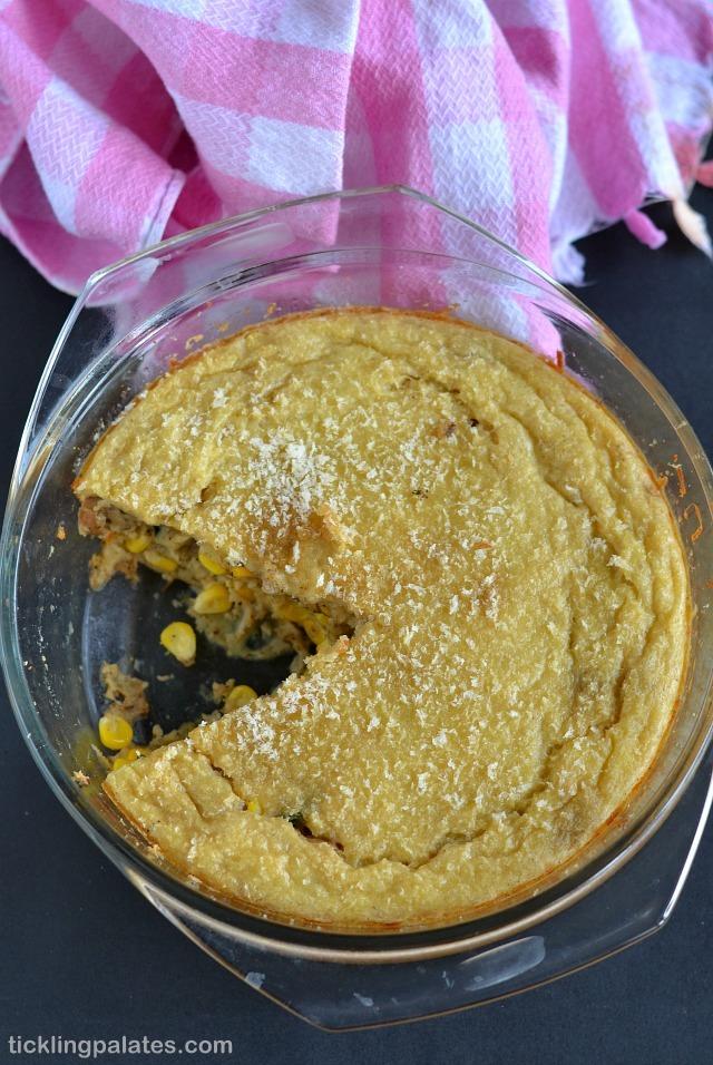Corn Mushroom Spinach Quiche