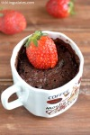 Chocolate Strawberry Mug Cake Recipe in Microwave