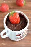 Chocolate Strawberry Mug Cake Recipe in Microwave