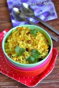 Carrot Rice Recipe – How to make Carrot Pulao