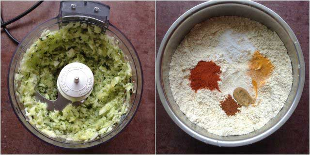zucchini muthia step-1
