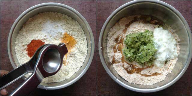 zucchini muthia step-2