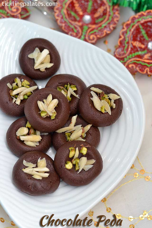 Chocolate Khoya Peda recipe