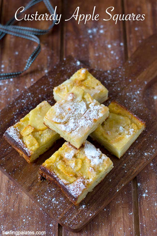 custardy apple squares recipe