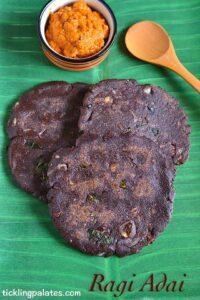 Ragi Adai Recipe – Spicy Finger Millet Adai