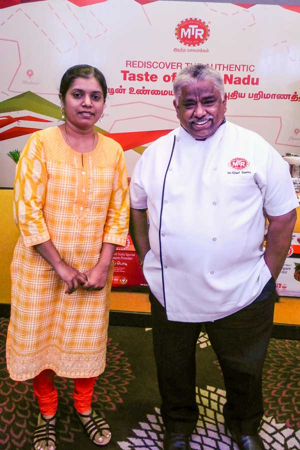 with Dr.Chef Damu at MTR Event