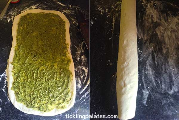 braided pesto bread step1