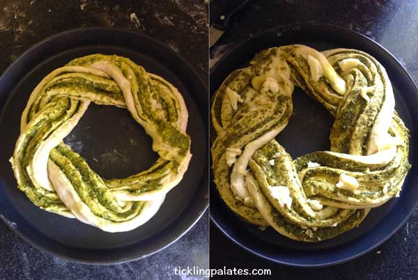 braided pesto bread step3