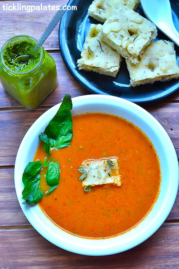 roasted tomato basil soup recipe