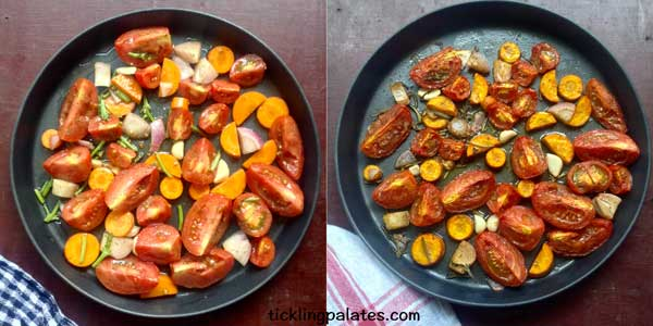 roasted tomato basil soup recipe step1