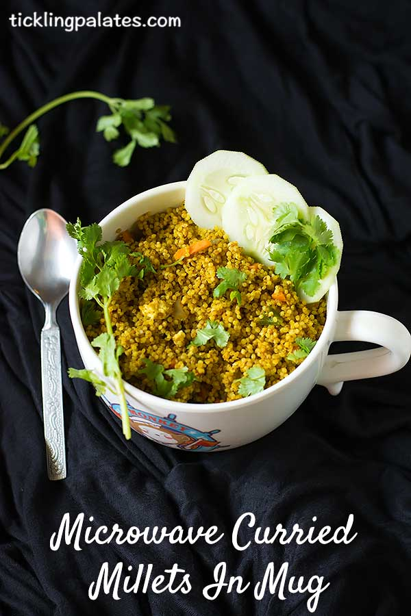curried millets in mug recipe