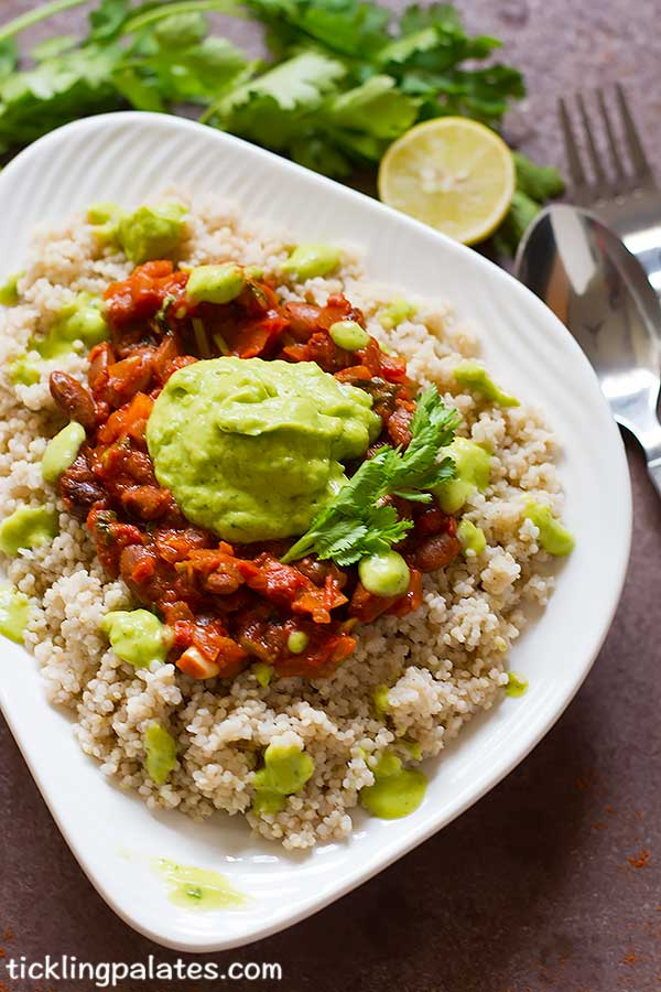 vegan millet burrito bowl recipe