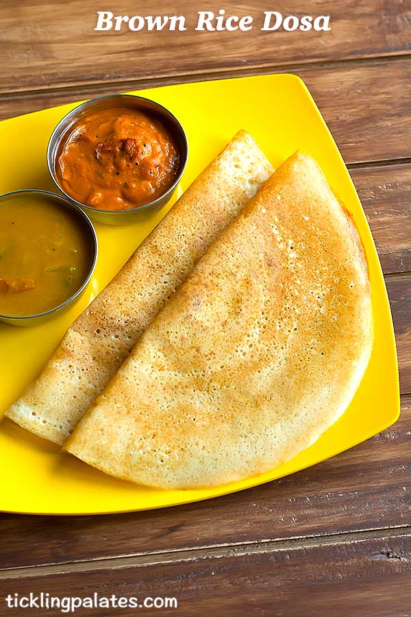 brown rice dosa recipe