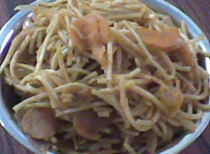 Noodles in Tomato Sauce