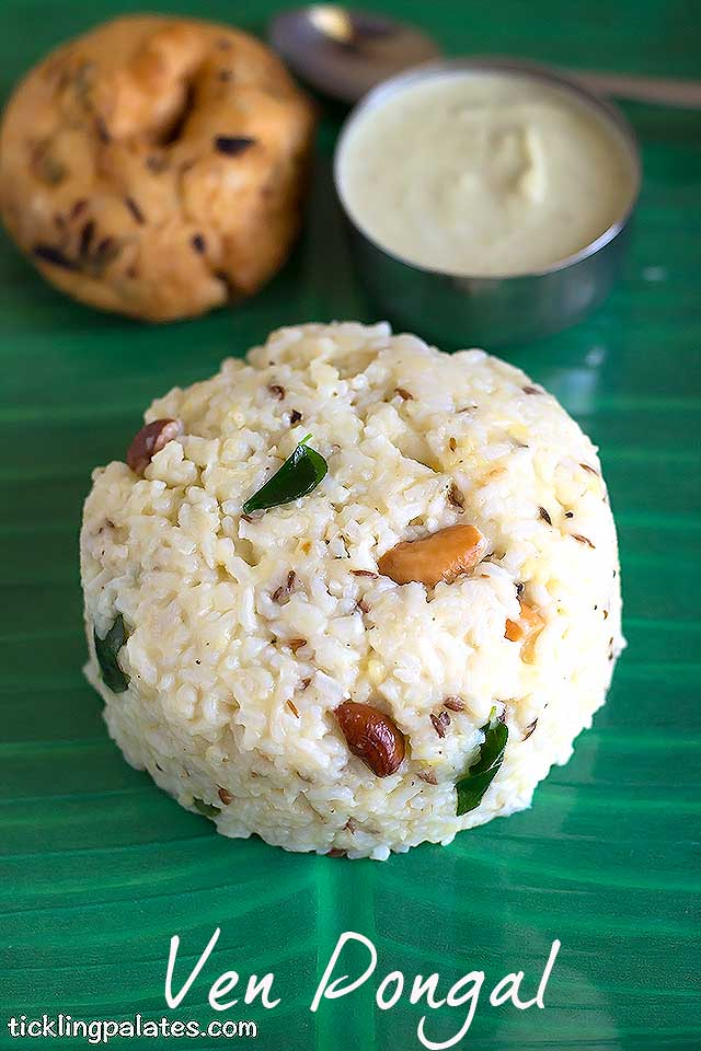 Ven Pongal Recipe - Khara Pongal Recipe | Tickling Palates