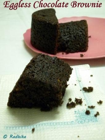 Eggless Chocolate Brownie ~ Simple yet Sinful