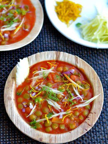 beach style peas chaat recipe