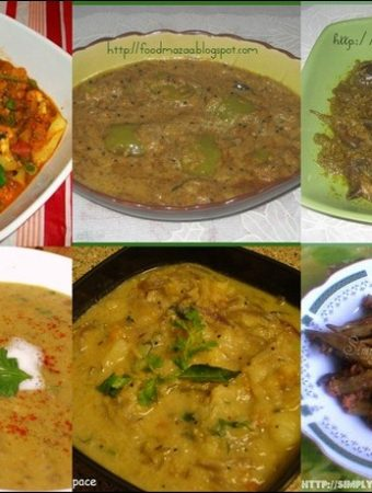Roundup of Let's Cook: Subzis for Rotis