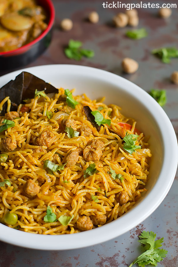 pulao using meal maker