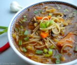 Chinese Vegetable Noodles Soup