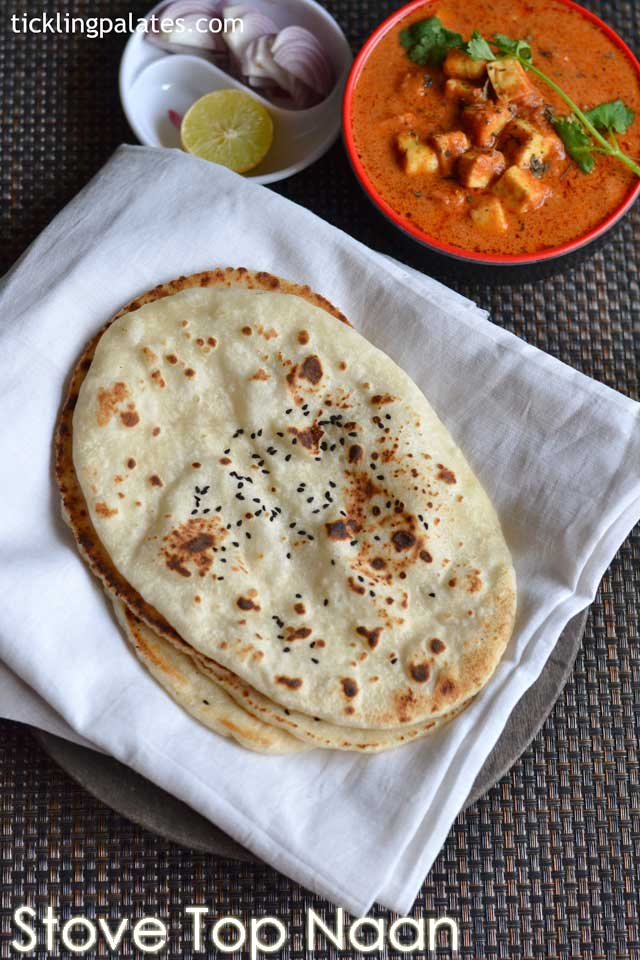 Homemade Naan without yeast on stove top