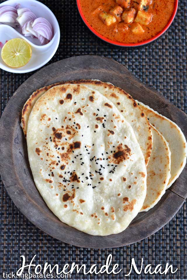 Naan recipe Without Yeast on Stove Top