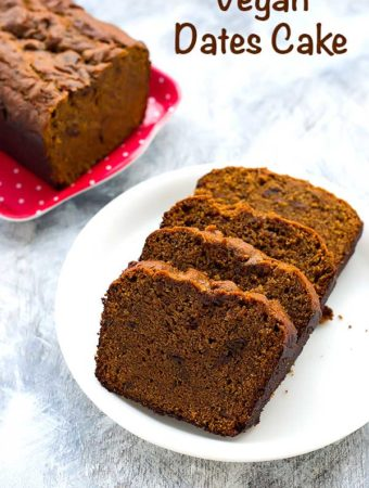 Eggless Dates Cake Recipe – Vegan Dates Cake