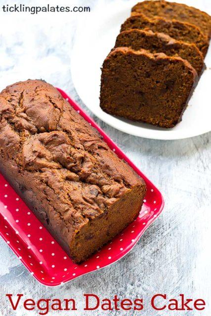vegan dates cake recipe