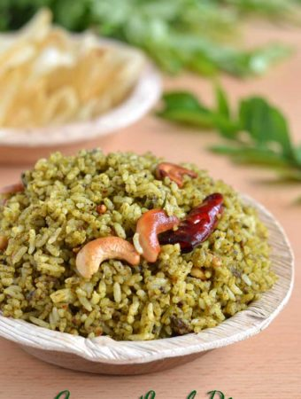 Karuveppilai Sadam / Spicy Curry Leaf Rice