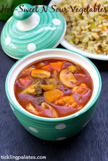 hot sweet sour vegetables recipe