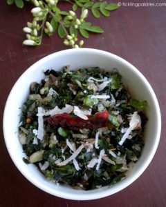 Murungakeerai Poriyal / Stir Fried Drumstick Leaves