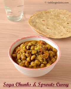 Soya Chunks Sprouts Curry Recipe And A Product Review