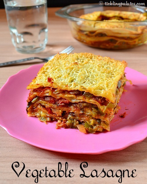 Vegetable Lasagna Recipe With Homemade Lasagna Sheets Without Pasta Machine Tickling Palates