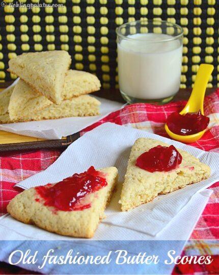 eggless butter scones recipe