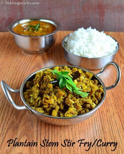 vazhai thandu poriyal recipe
